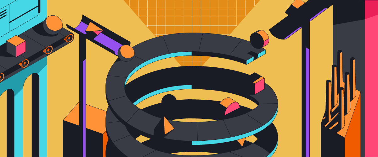 Always close the loop, graphic showing a loop shape