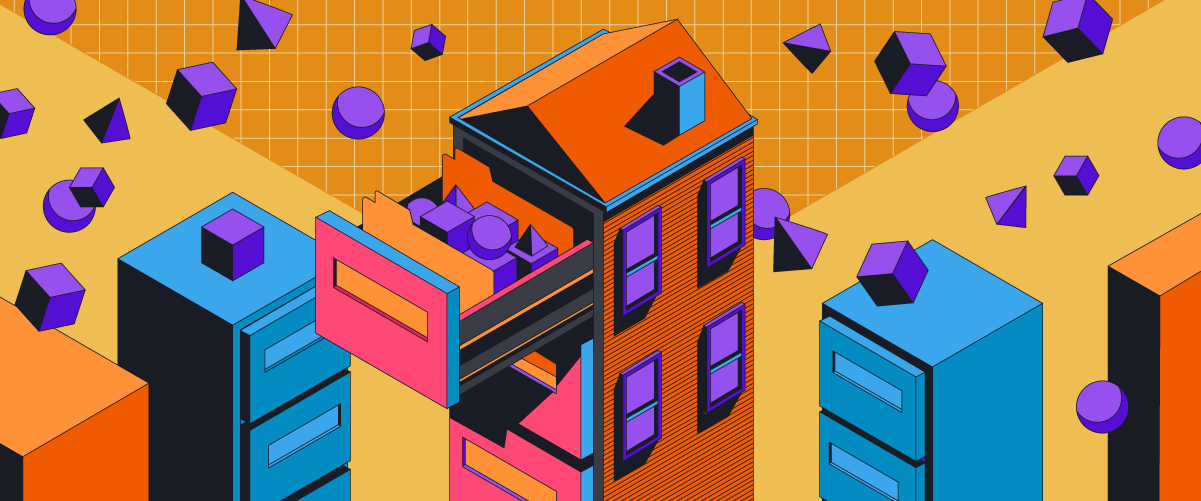 Give product feedback a home, graphic showing draws shaped like houses