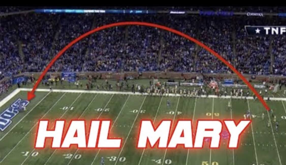 Throw and Hope, a Hail Mary in football (Source: Youtube)