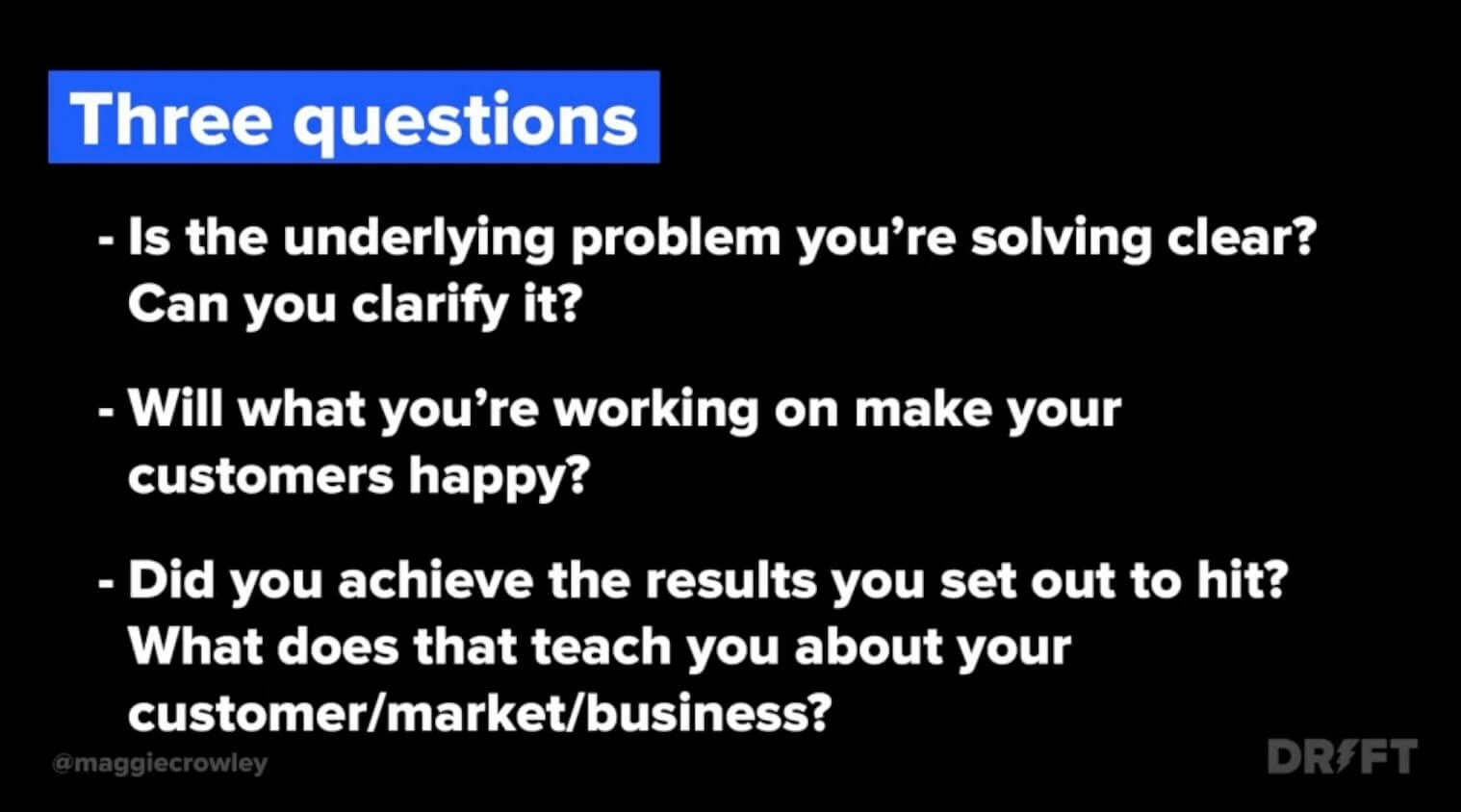 three questions to ask about customer outcomes