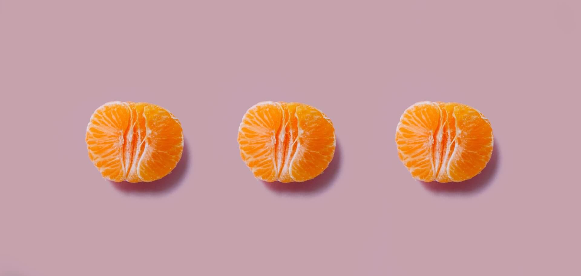 segments of an orange