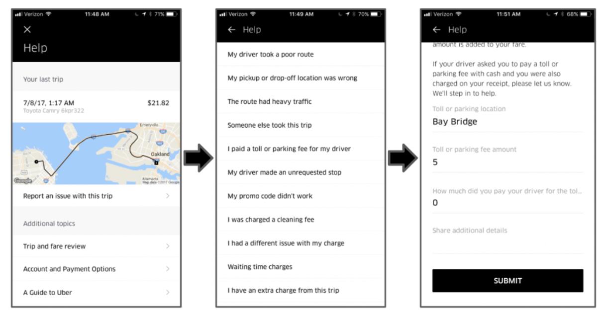 Uber's customer experience